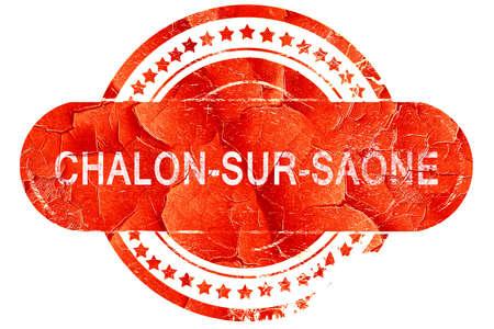 sur: chalon-sur-saone, red grunge rubber stamp on white background