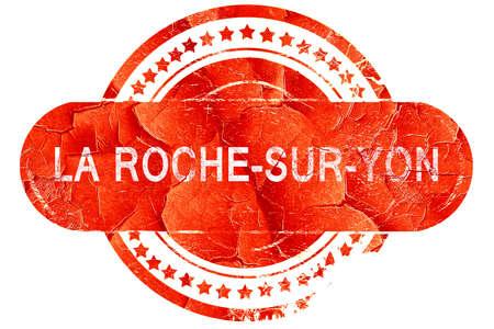 la: la roche-sur-yon, red grunge rubber stamp on white background Stock Photo