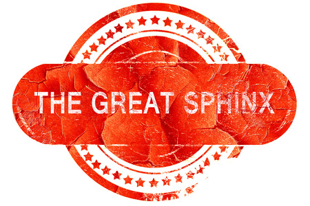 sphinx: the great sphinx, red grunge rubber stamp on white background Stock Photo