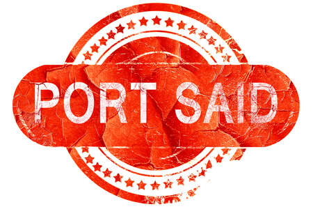 port: port said, red grunge rubber stamp on white background Stock Photo
