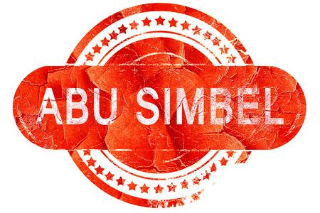 abu simbel: abu simbel, red grunge rubber stamp on white background