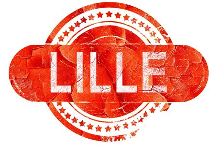 lille: lille, red grunge rubber stamp on white background Stock Photo