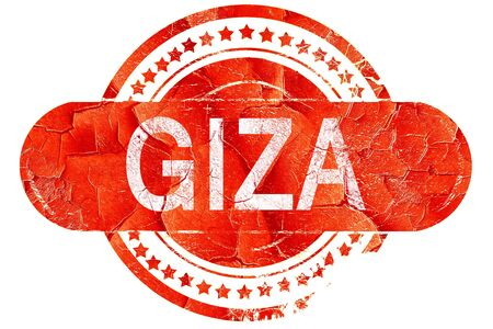 giza: giza, red grunge rubber stamp on white background