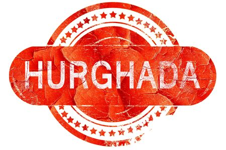hurghada: hurghada, red grunge rubber stamp on white background
