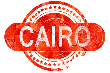 cairo: cairo, red grunge rubber stamp on white background Stock Photo