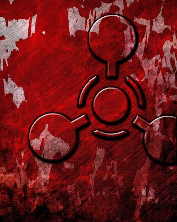 oxidant: Chemical weapon sign on a grunge background with some scratches