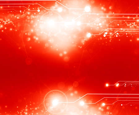 energy background: Red computer circuit with some soft highlights