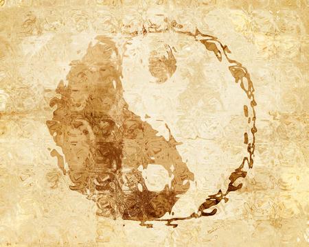 yin y yang: signo de Yin Yang con algunas iluminaciones y reflexiones Foto de archivo