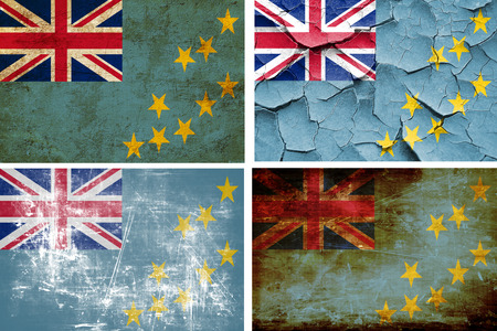 tuvalu: Tuvalu flag collection on a solid white background