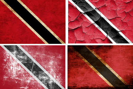 trinidad: trinidad flag collection on a solid white background Stock Photo