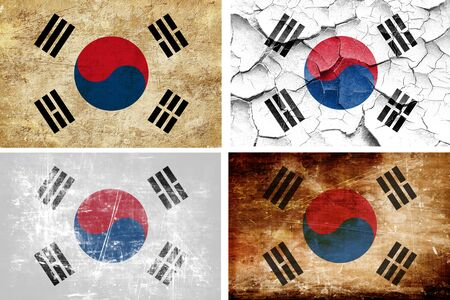 the sovereign: South korea flag collection on a solid white background