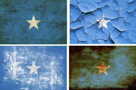 somalian culture: Somalia flag collection on a solid white background Stock Photo