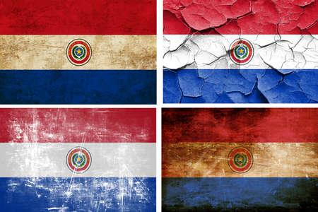 bandera de paraguay: colección de la bandera de Paraguay en un fondo blanco sólido
