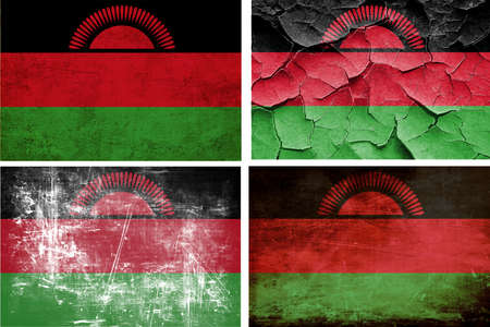 malawi: Malawi flag collection on a solid white background