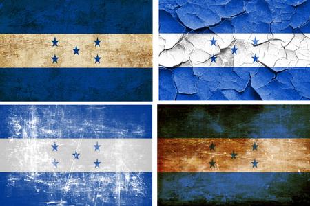 bandera honduras: colección de la bandera de Honduras en un fondo blanco sólido