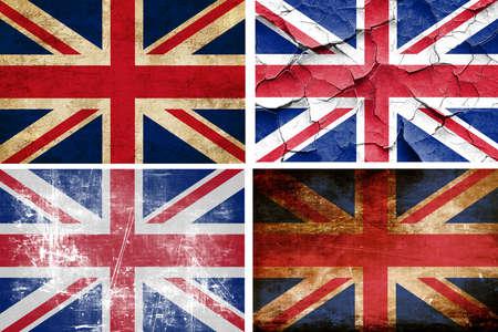 bandera de gran bretaña: Gran colección bandera de Gran Bretaña sobre un fondo blanco sólido