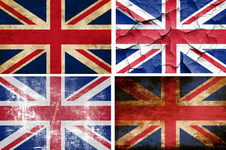 britain flag: Great britain flag collection on a solid white background Stock Photo