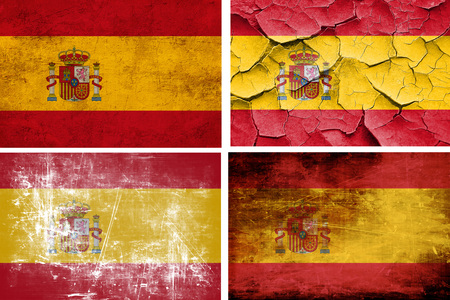 spanish flag: Spanish flag collection on a solid white background Stock Photo