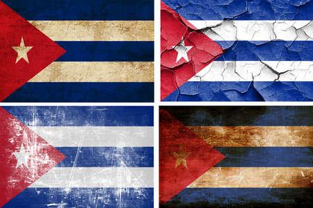 bandera cuba: colecci�n Bandera de Cuba en un fondo blanco s�lido