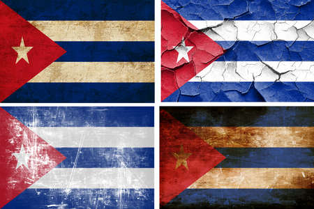 cuba flag: Cuba flag collection on a solid white background