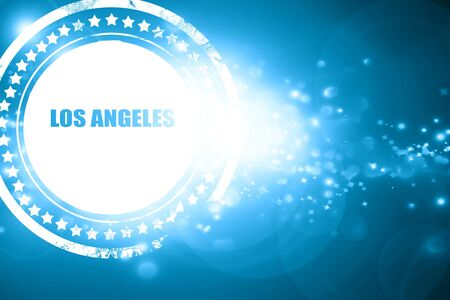 custom letters: Glittering blue stamp: los angeles Stock Photo