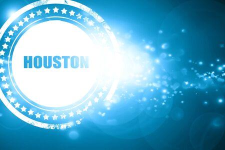houston: Glittering blue stamp: houston