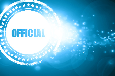 confidentiality: Glittering blue stamp: official sign background with some soft smooth lines