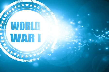 world war 1: Glittering blue stamp: World war 1 background with some smooth lines Stock Photo