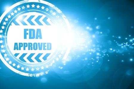 きらびやかな青いスタンプ: FDA 承認されたいくつかの滑らかなラインと背景