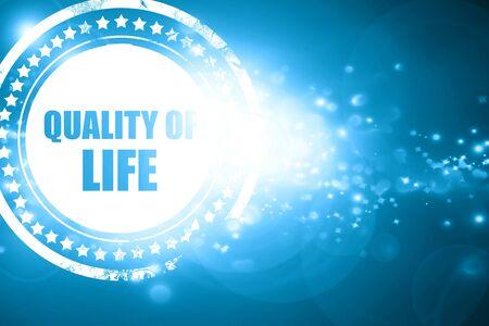 Glitzernde blaue Stempel: Lebensqualität