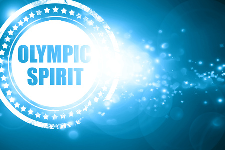 Glittering blue stamp: olympic spirit