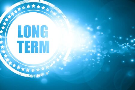 long term: Glittering blue stamp: long term