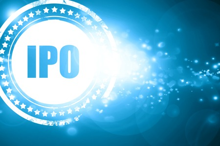 initial public offerings: Glittering blue stamp: ipo Stock Photo