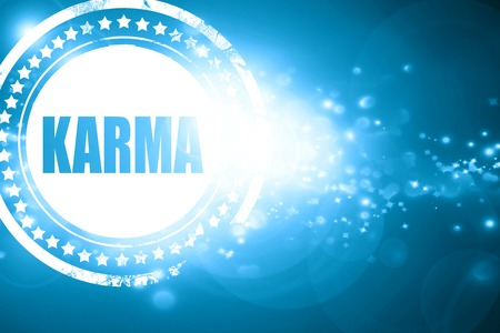 forthcoming: Glittering blue stamp: karma
