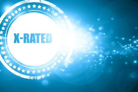 Glittering blue stamp: Xrated sign with some nice vivid colors