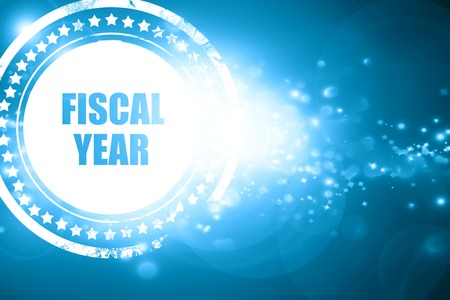 fiscal: Glittering blue stamp: fiscal year