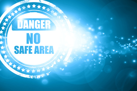 no nuclear: Glittering blue stamp: apocalypse danger background on a grunge background