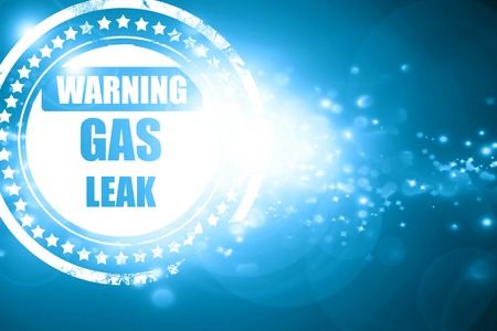 the leak: Glittering blue stamp: Gas leak background with some smooth lines