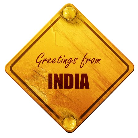 Greetings from india card with some soft highlights 3d rendering greetings from india card with some soft highlights 3d rendering yellow road sign on m4hsunfo