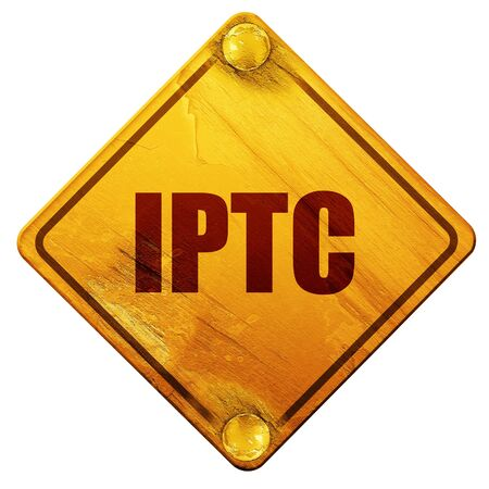 bytes: iptc, 3D rendering, yellow road sign on a white background Stock Photo