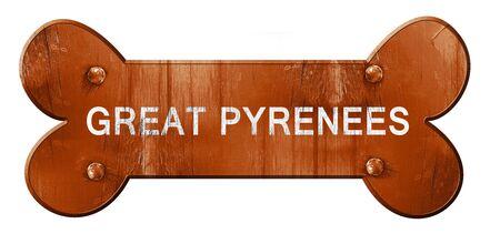 great pyrenees: Great pyrenees, 3D rendering, rough brown dog bone