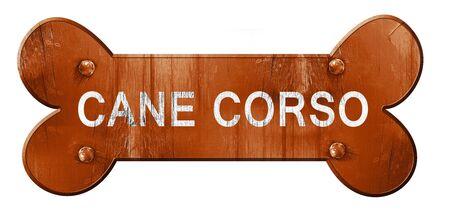 cane corso: Cane corso, 3D rendering, rough brown dog bone