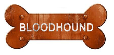 bloodhound: Bloodhound, 3D rendering, rough brown dog bone