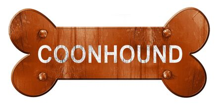 3d bone: Coonhound, 3D rendering, rough brown dog bone