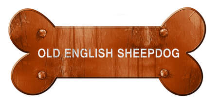 旧英語牧羊犬、3 D レンダリング、大まかな茶色犬の骨