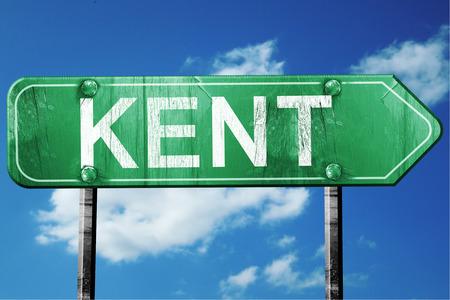 kent: Kent, 3D rendering, green grunge road sign Stock Photo