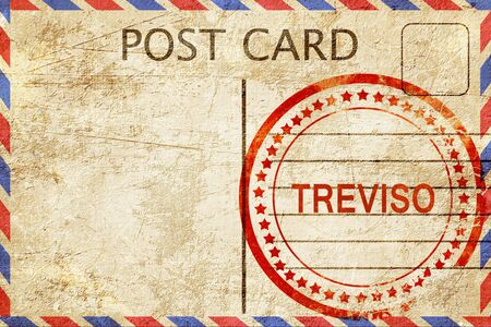 treviso: Treviso, a rubber stamp on a vintage postcard Stock Photo