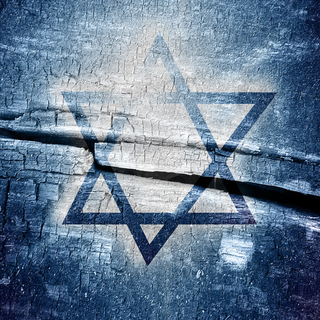 jews: Star of David, representing the Jewish religious symbol Stock Photo