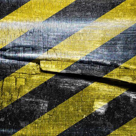hazardous metals: Black and yellow hazard lines with clean lines Stock Photo