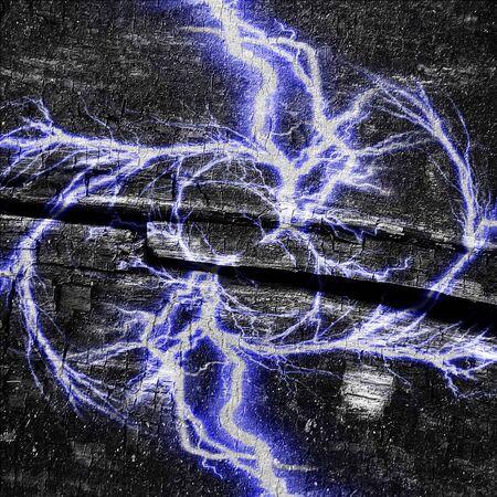 electrocute: electrical spark on a dark black background